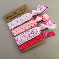 The Alessandra Lace Hair Tie - Ponytail Holder Collection by Elastic Hair Bandz on Etsy