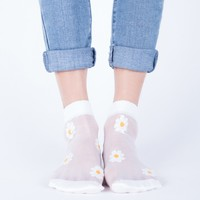 Sheer Daisy Socks