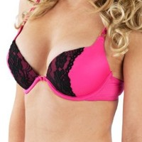 Sexy Cut Push Up Bra With Lace and Gold Accents by Spree