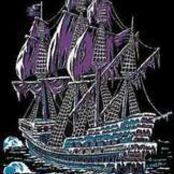 Ice Ship - Blacklight Velvet Poster