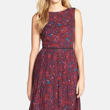 Women's Adrianna Papell Print Woven Fit & Flare Dress,