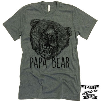 Papa Bear T-Shirt. Funny Shirt For Dad. Birthday. Dad To Be Gift. Bear Shirt.