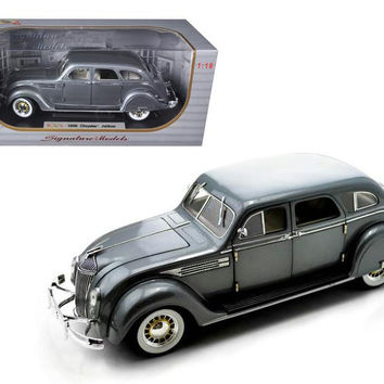 1936 Chrysler Airflow Silver 1-18 Diecast Model Car by Signature Models