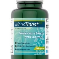 Mood Boost (60 Vegetarian Capsules) • Helps Reduce Stress & Anxiety • With 5-HTP, Magnesium, Passion Flower, L-Tyrosine & L-Theanine • 100% Money-Back Guarantee