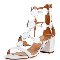 Aquazzura Indian Moon Block-Heel Sandal