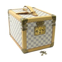 Auth Louis Vuitton Damier Azur Boite Flacon Cosmetic Make-up Vanity Bag - 93973