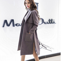 Wool Coat Korean Women's Fashion Slim Stylish Windbreaker [9375079498]