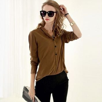 Half Button T Shirt