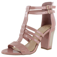 Jessica Simpson Miss Piggy Patent Women's Dress Heel Sandals