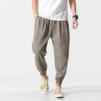 Privathinker Brand Casual Harem Pants Men Jogger Pants Men Fitness Trousers Male Chinese Traditional Harajuku 2019 Summer Clothe