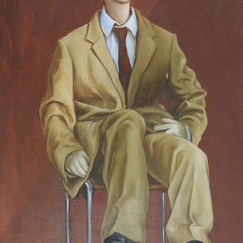 Surreal Mannequin In Suit Painting