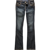 Almost Famous Heavy Stitch Womens Bootcut Jeans Dark Denim  In Sizes