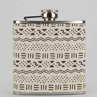 Printed Canvas Wrapped Flask