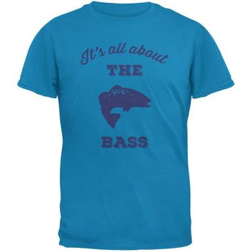 LMFCY8 Paws - It's all about the Bass Blue Adult T-Shirt