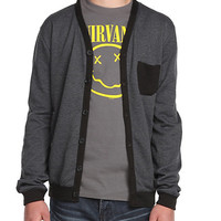 Brooklyn Cloth Charcoal French Terry Cardigan | Hot Topic