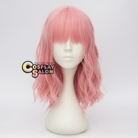 Medium Curly Pink Lolita Women Anime Cosplay Wig (Size: 45 cm)