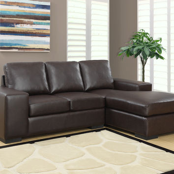Dark Brown Bonded Leather / Match Sofa Lounger