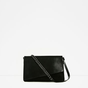 CRACKLED LEATHER CROSSBODY BAG DETAILS