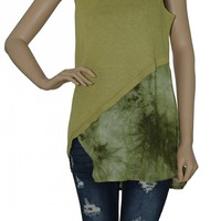 Sleeveless Avocado Top