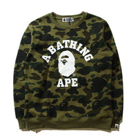 BAPE A Bathing Ape Camo Sweatshirt