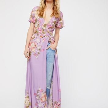 Free People Blue Skies Exclusive Wrap Maxi Dress
