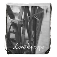 StringBag: European Bridge and Love Lock Drawstring Backpack