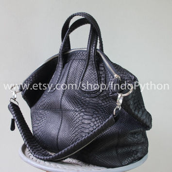 Genuine Python Bag Replica Givenchy Exotic Snakeskin Leather  Woman HandBag Purse Purple Black Gray Blue Yellow