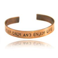personalized bangle bracelet , copper bracelet