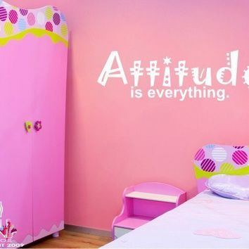 Wall Decal Quote Attitude Is Everything by singlestonestudios