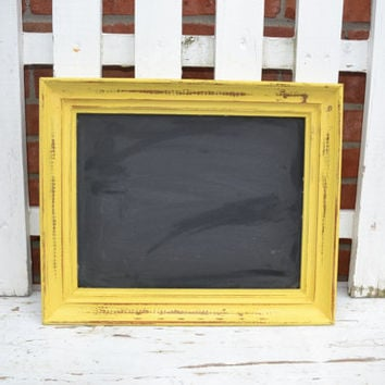 Yellow Chunky Chalkboard home decor painted frames bright housewares nursery decor wedding decor