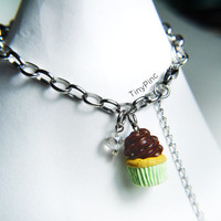 Cupcake Muffin charm bracelet