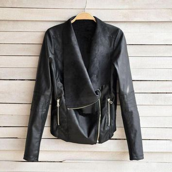 Vintage Look Faux Leather Jacket (US Only)