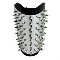 Metal Plate Spike Wristband Heavy Armband Gauntlet