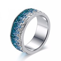 Colorful Cubic Zirconia Rings Promise Rings Wedding Ring Sets Rings for Women