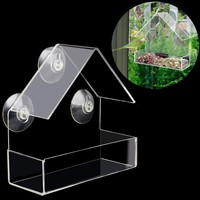 Creative Pet Bird feeder Clear Window Squirrel Proof Bird Feeder Window bird fee