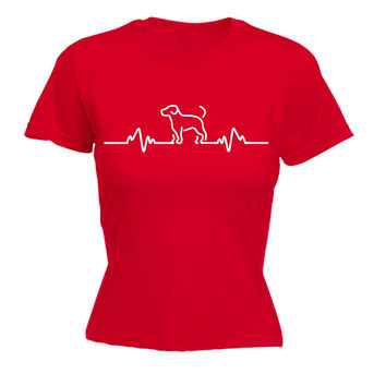 123t USA Women's Dog Pulse Funny T-Shirt
