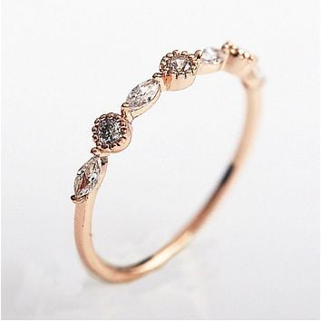 Cubic Zircon Midi Cocktail Ring in Gold