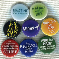 "1.25"" Doctor Who quote Pinback Button"