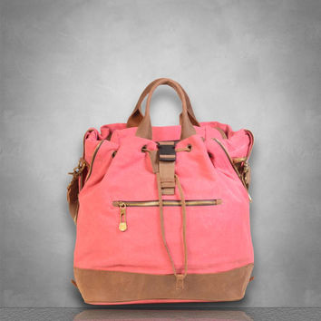 New Genuine Leather and Canvas Messenger Bag messenger Large travel business casual school holdall birthday gift Mens Ladies