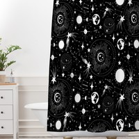 Heather Dutton Solar System Shower Curtain And Mat