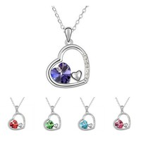 Princess Ice Platinum-plated 3-hearts-in-1 Pendant Necklace | Overstock.com Shopping - The Best Deals on Necklaces