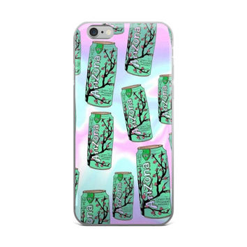 Arizona Can Collage Tie Dye Pink & Sky Blue iPhone 4 4s 5 5s 5C 6 6s 6 Plus 6s Plus 7 & 7 Plus Case