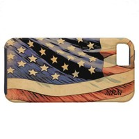 American Flag Personalized iPhone 5 Case from Zazzle.com