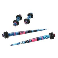 Acrylic Pink & Blue Aztec Micro Taper & Plug 4 Pack
