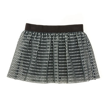 Couture Mesh Skirt, Black/White, Size 8-14,
