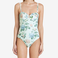 Distinguishing rose swimsuit - Mint | Swimwear & Beachwear | Ted Baker