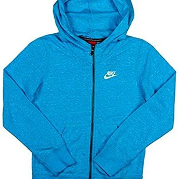 Nike Girl's Sportswear Gym Vintage Full Zip Hoodie Blue