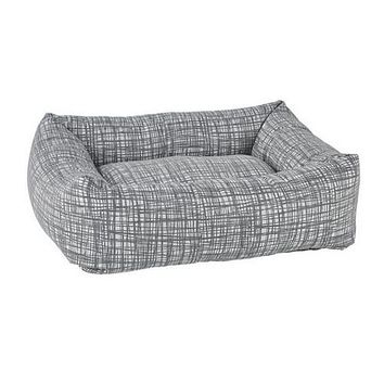 Jacquard Dutchie Bolster Dog Bed — Tribeca