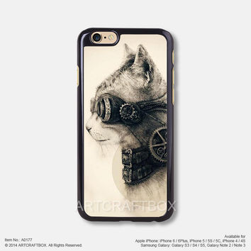 Mechanical cat Free Shipping iPhone 6 6Plus case iPhone 5s case iPhone 5C case 177