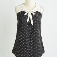 Darling Mid-length Sleeveless Fashionably Elate Top in Black